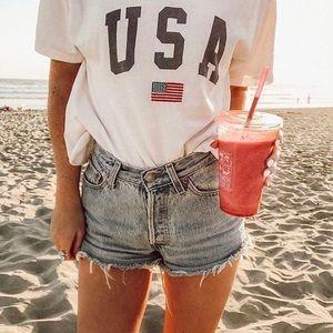 Brandy❤️Melville | 'USA' Aleena Cropped Tee